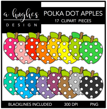 Polka Dot Apples 1 {Graphics for Commercial Use}