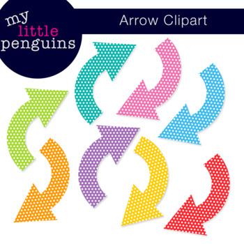 Polka Dot Arrow Clipart (clip art)