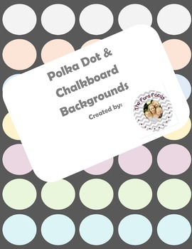 Polka Dot Backgrounds--with bonus borders