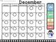 Polka Dot Behavior Clip Chart Home-School Calendars 2016-2