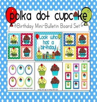Polka Dot Birthday Mini-Bulletin Board Set