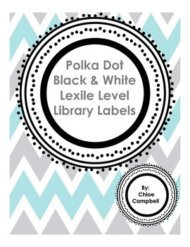 Polka Dot Black & White Lexile Labels Classroom Library