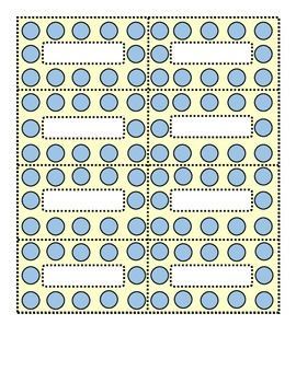Polka Dot Blue and Cream Small Labels