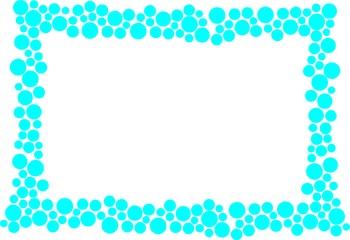 Polka Dot Border - Cyan
