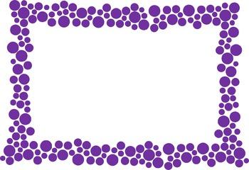Polka Dot Border - Purple