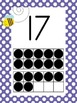 Polka Dot Bumblebee Theme Number Wall Posters 0-20 {with T