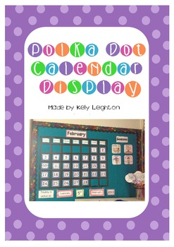 Polka Dot Calendar Display Pack