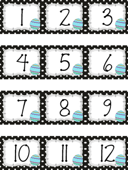 Polka Dot Calendar Numbers for April