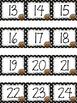 Polka Dot Calendar Numbers for November