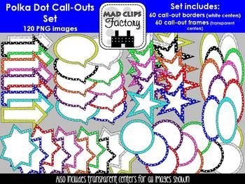 Polka Dot Call-Outs Set