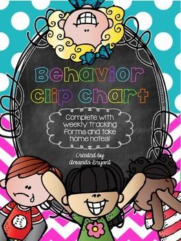 Polka Dot & Chevron Behavior Clip Chart