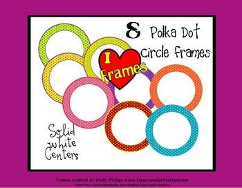 Polka Dot Circle Frames {Commercial Use}