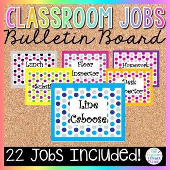 Polka Dot Classroom Job Labels