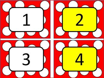 Polka Dot Classroom Number Line