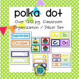 Polka Dot EDITABLE Classroom Organization and Decor Pack