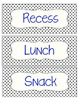 Polka Dot Classroom Schedule Cards (to display on whiteboa