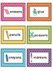 Polka Dot Classroom Supply Labels