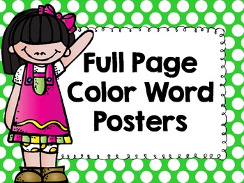 Polka Dot Color Posters- Full Page
