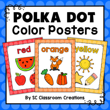 Polka Dot Color Posters (Rainbow Big Dots)