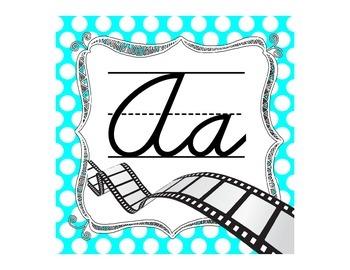 Polka Dot Cursive Alphabet-Movie Themed
