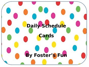 Polka Dot Daily Schedule Cards