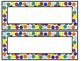 Polka Dot Desk Nameplates