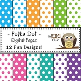 Digital Papers: Trendy Polka Dots