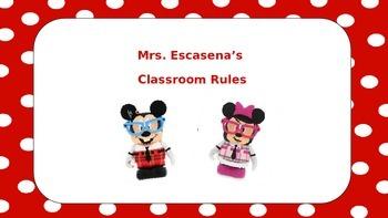 Polka Dot Disney Nerds Class Rules Preview