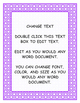 Polka Dot Editable Word Documents
