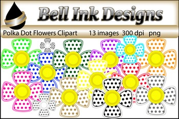 Polka Dot Flowers Clipart