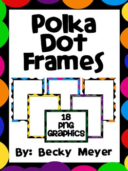 Polka Dot Frames and Task Card Templates