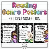 Polka Dot Reading Genre Posters, Fiction, Non-Fiction