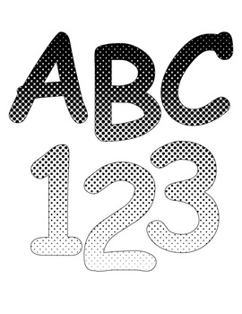 Polka Dot Gradient Bulletin/ display letters and numbers (