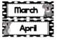 Polka Dot Koala Calendar Set (numbers, days, months, years)