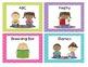 Polka Dot Literacy Station/Center Cards