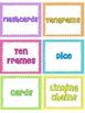 Polka Dot Math Manipulative Labels