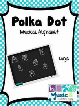 Polka Dot Musical Alphabet