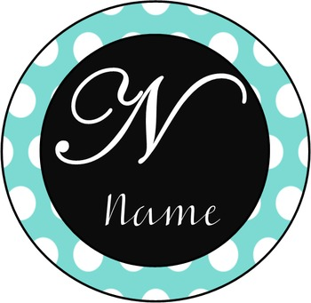 Polka Dot Name Badges