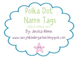 Polka Dot Name Tags (Optional Owl Theme)