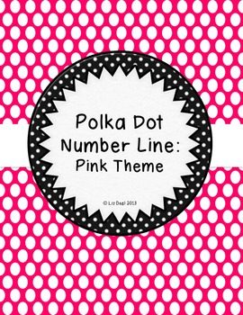Polka Dot Number Line: Pink Theme