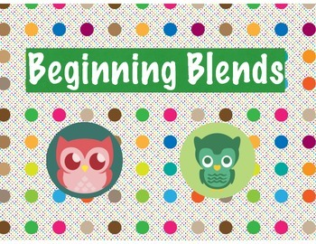 Polka Dot Owl Beginning Blends and Digraphs