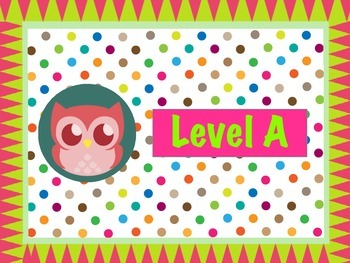Polka Dot Owl Leveled Book Bin Labels