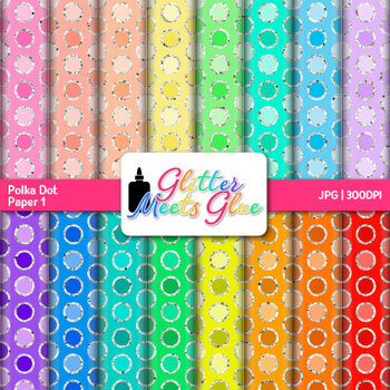 Rainbow Polka Dot Paper {Scrapbook Backgrounds for Task Ca