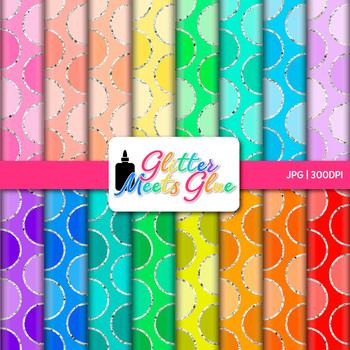 Rainbow Polka Dot Paper {Scrapbook Backgrounds for Task Ca