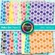 Rainbow Polka Dot Paper {Scrapbook Backgrounds for Workshe