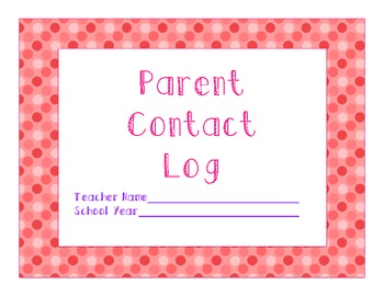 Polka Dot Parent Contact Log