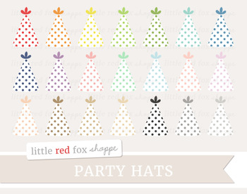 Polka Dot Party Hat Clipart
