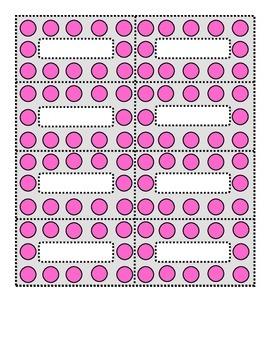 Polka Dot Pink and Dove Gray Small Labels