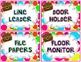 Polka Dot Pirates {Classroom Jobs/Helpers Cards}