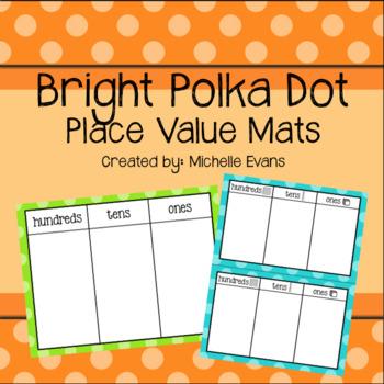 Polka Dot Place Value Mats